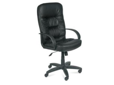 Кресло для руководителя Болеро Ультро Кожзам черный