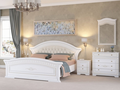 Спальня Диана белый/золото