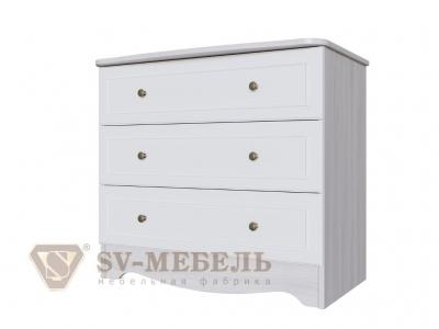 Комод 3 ящика Акварель-1 820х751х480 белый