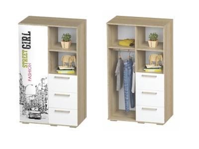Шкаф многофункциональный Сенди ШК-10 802х1376х460 для девочки