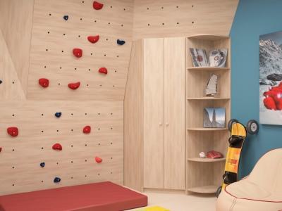 Угловой шкаф Мария с угловым элементом ясень шимо светлый