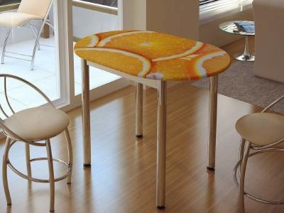 Стол обеденный с принтом цитрус