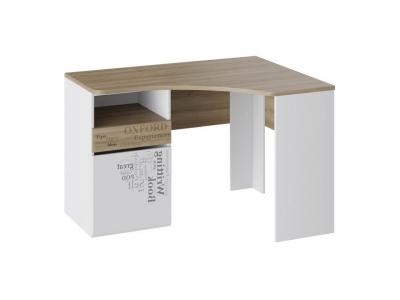 Стол угловой с ящиками Оксфорд ТД-139.15.03 Ривьера, Белый с рисунком