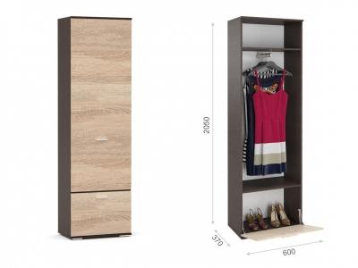 Распашной шкаф Виола Венге/сонома